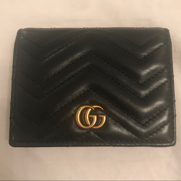 69e59b919bb Gucci Handbags - GG Marmont Quilted Leather Flap Card Case